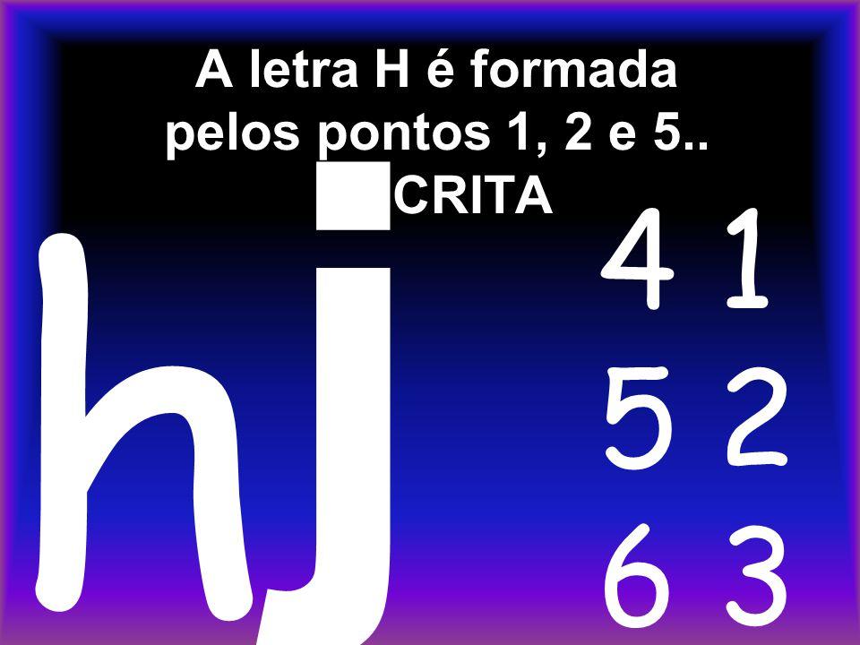 A letra H é formada pelos pontos 1, 2 e 5.. ESCRITA