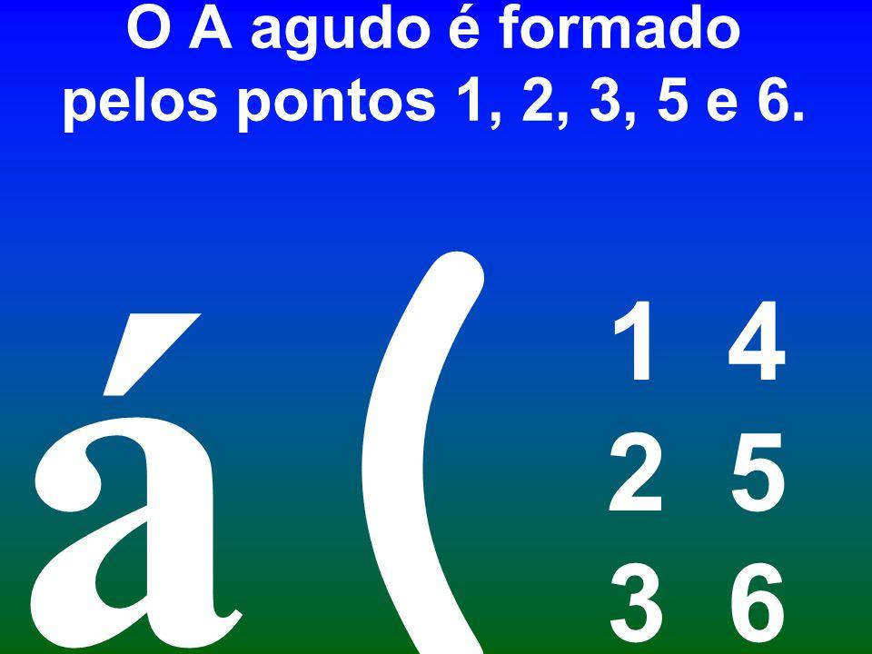 O A agudo é formado pelos pontos 1, 2, 3, 5 e 6.