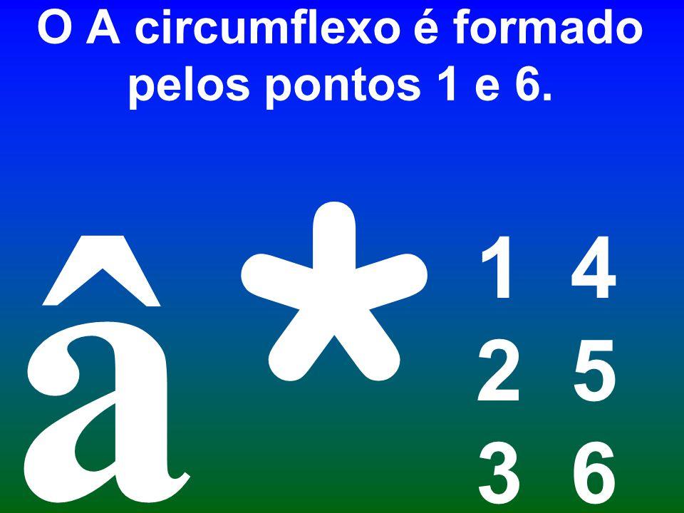 O A circumflexo é formado pelos pontos 1 e 6.