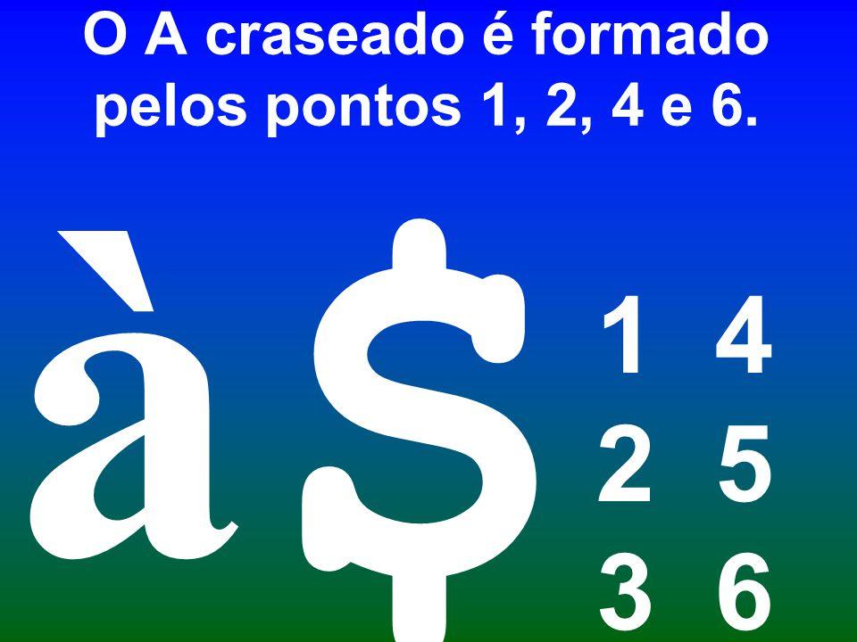 O A craseado é formado pelos pontos 1, 2, 4 e 6.