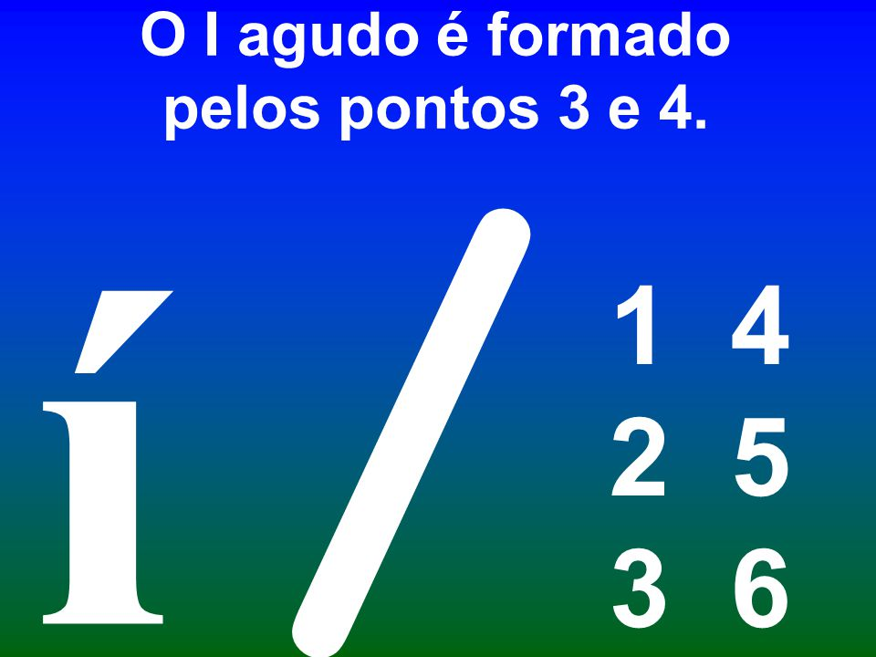 O I agudo é formado pelos pontos 3 e 4.