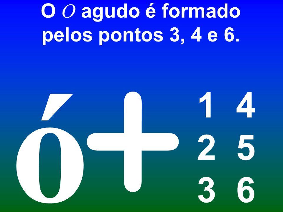 O O agudo é formado pelos pontos 3, 4 e 6.