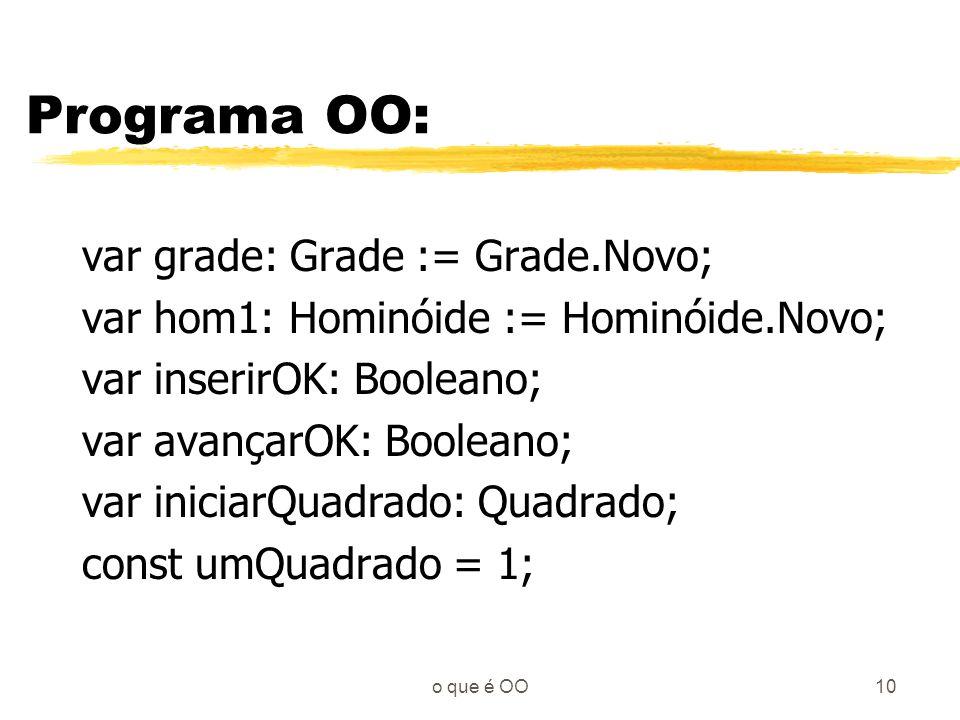 Programa OO: var grade: Grade := Grade.Novo;