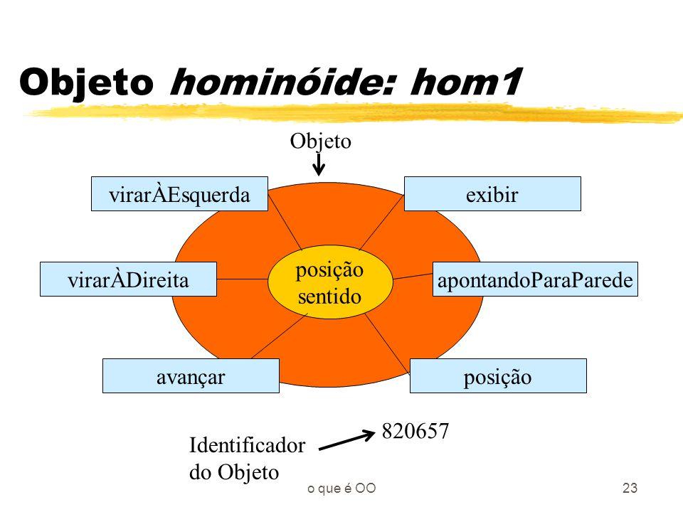 Objeto hominóide: hom1 Objeto virarÀEsquerda exibir posição sentido