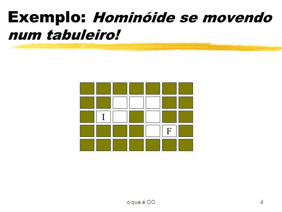 Exemplo: Hominóide se movendo num tabuleiro!