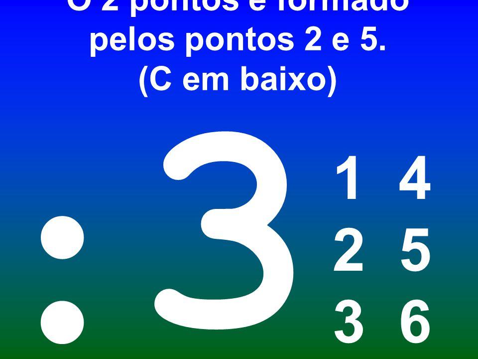 O 2 pontos é formado pelos pontos 2 e 5. (C em baixo)