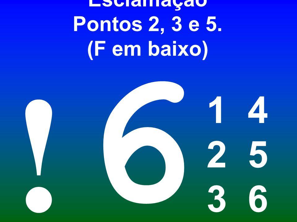 Esclamação Pontos 2, 3 e 5. (F em baixo)
