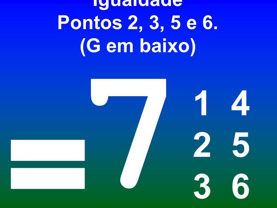 Igualdade Pontos 2, 3, 5 e 6. (G em baixo)