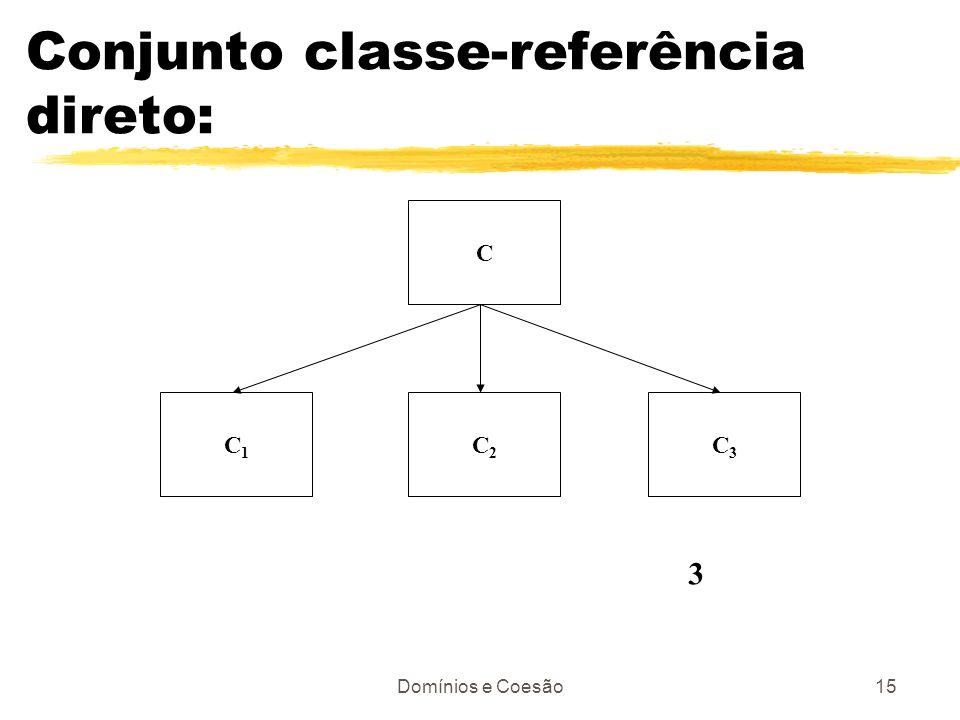 Conjunto classe-referência direto: