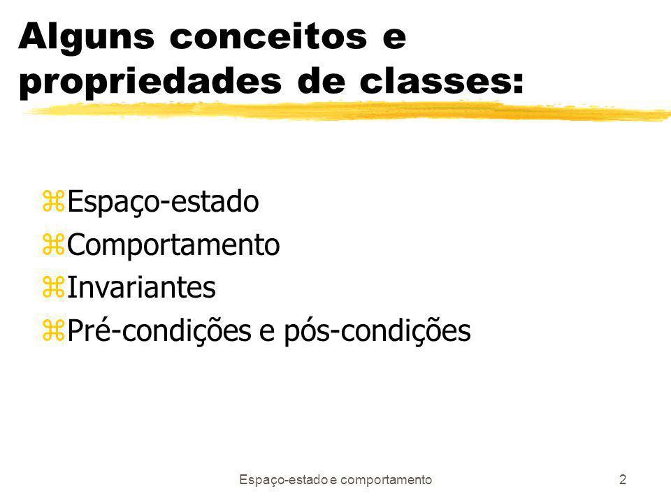 Alguns conceitos e propriedades de classes: