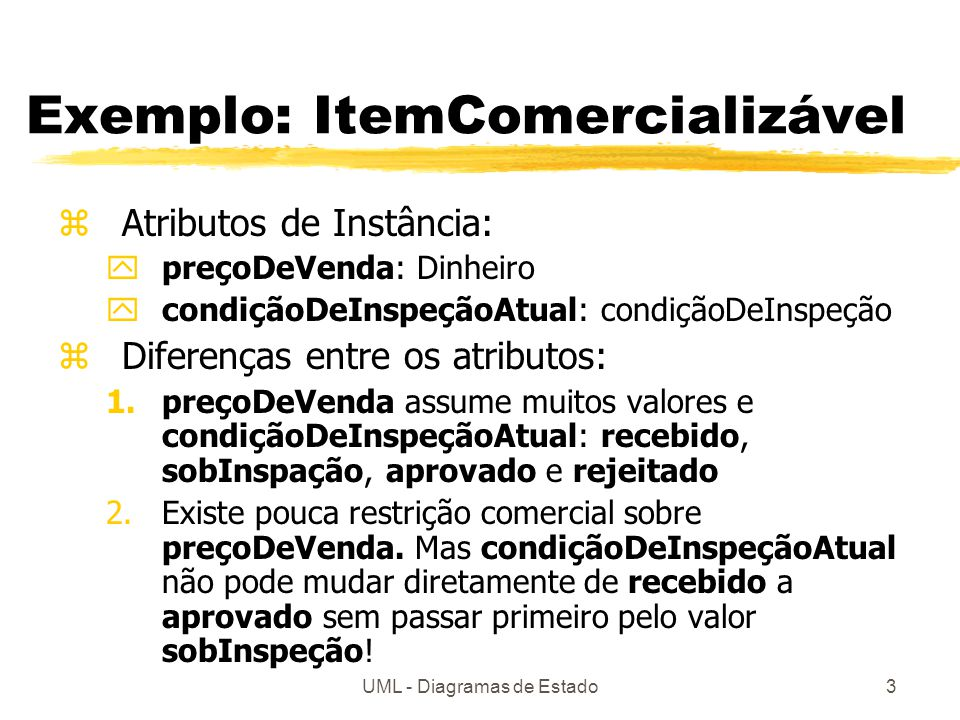 Exemplo: ItemComercializável
