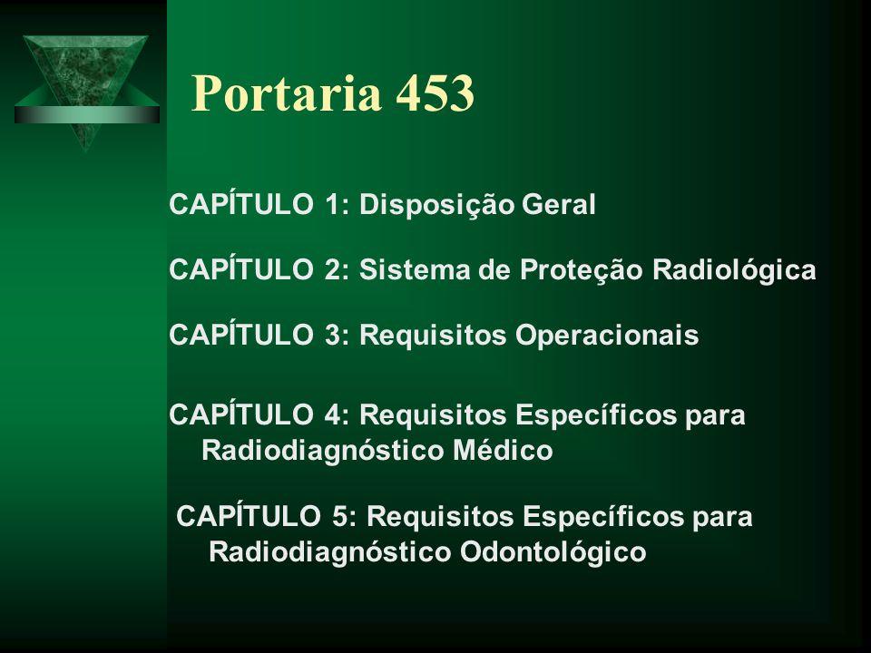 Portaria 453 CAPÍTULO 1: Disposição Geral
