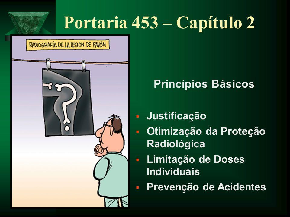 Portaria 453 – Capítulo 2 Princípios Básicos Justificação
