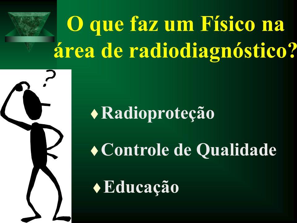 O que faz um Físico na área de radiodiagnóstico
