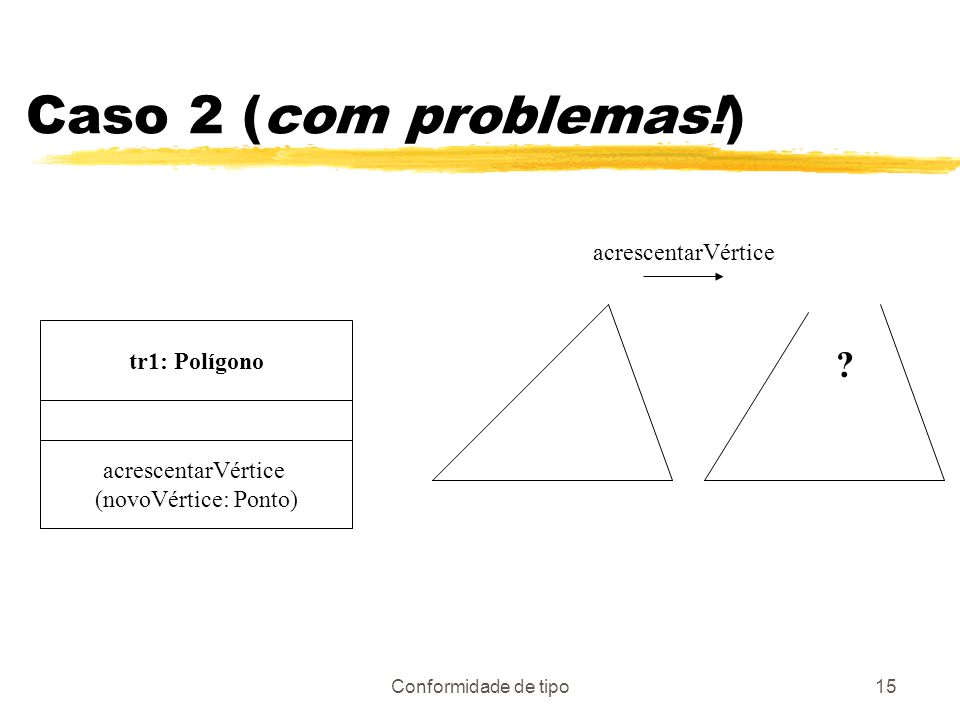 Caso 2 (com problemas!) acrescentarVértice tr1: Polígono
