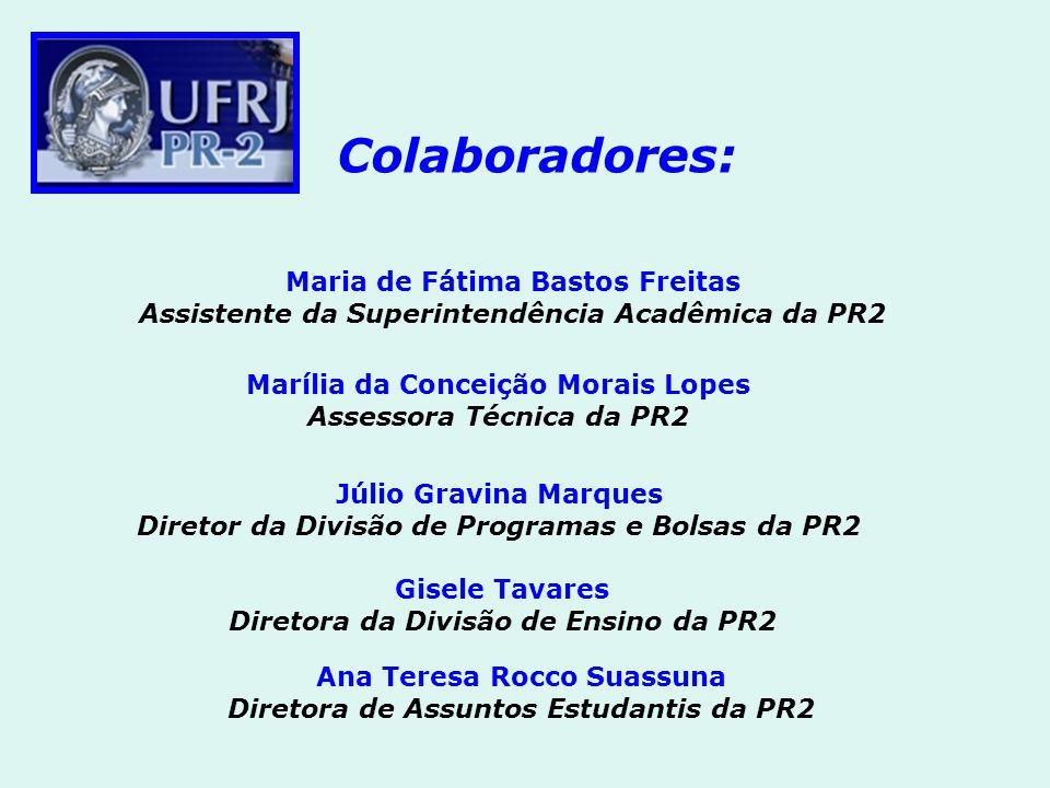 Colaboradores: Maria de Fátima Bastos Freitas