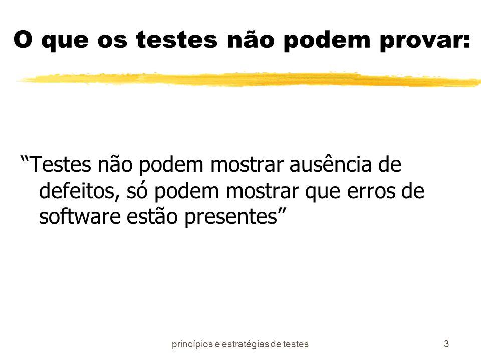 O que os testes não podem provar: