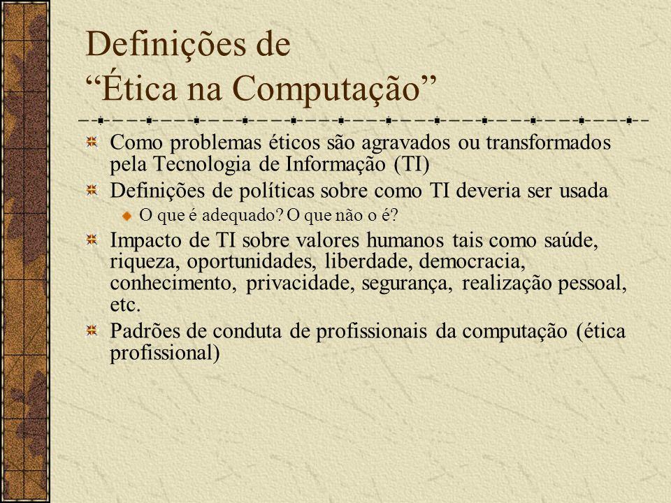 Definições de Ética na Computação