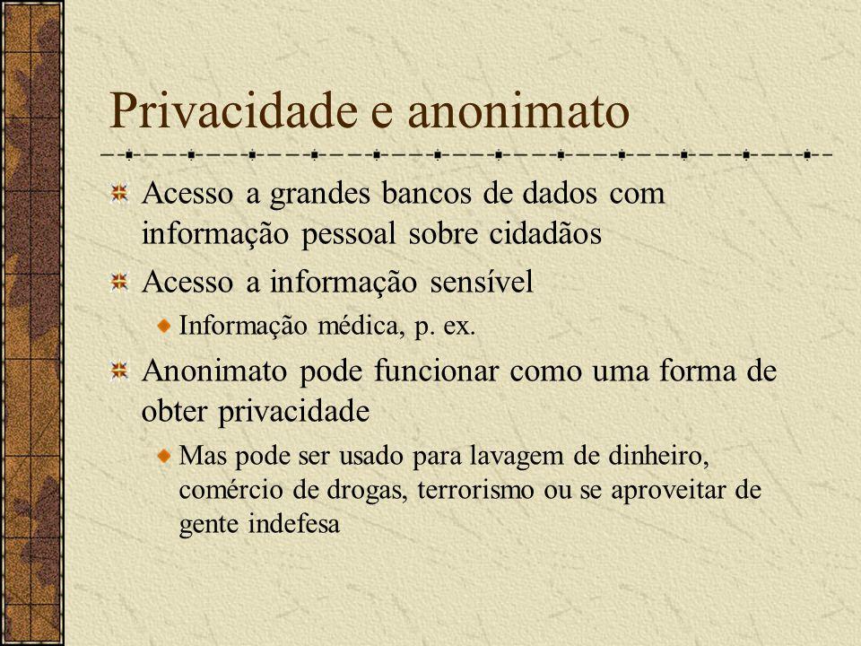 Privacidade e anonimato