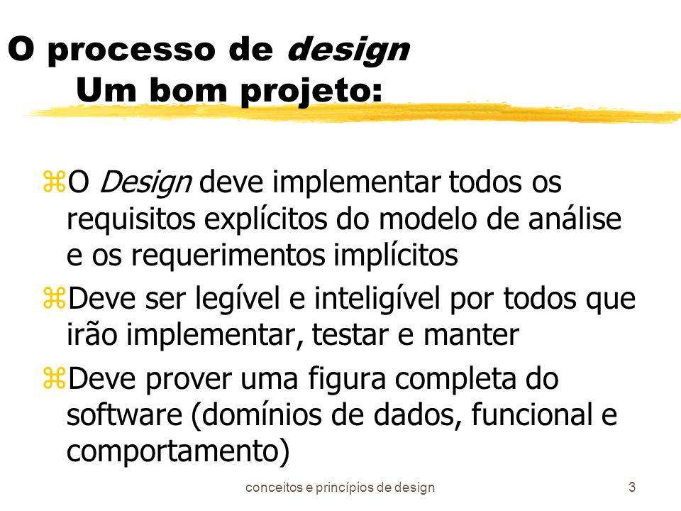 O processo de design Um bom projeto: