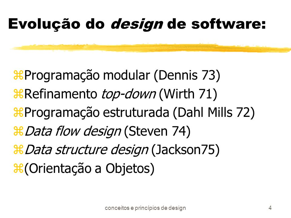 Evolução do design de software:
