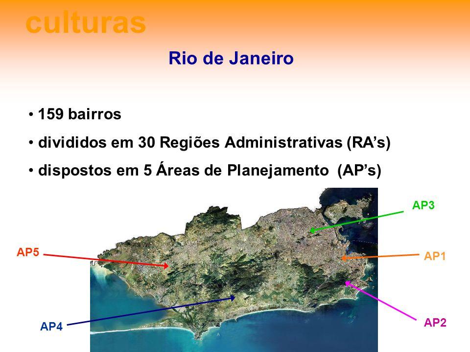 culturas Rio de Janeiro 159 bairros