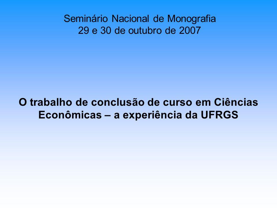 Seminário Nacional de Monografia