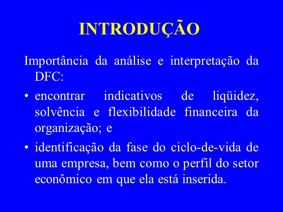 INTRODUÇÃO Importância da análise e interpretação da DFC: