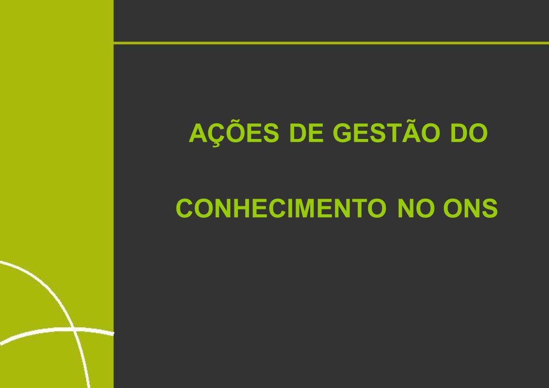 AÇÕES DE GESTÃO DO CONHECIMENTO NO ONS