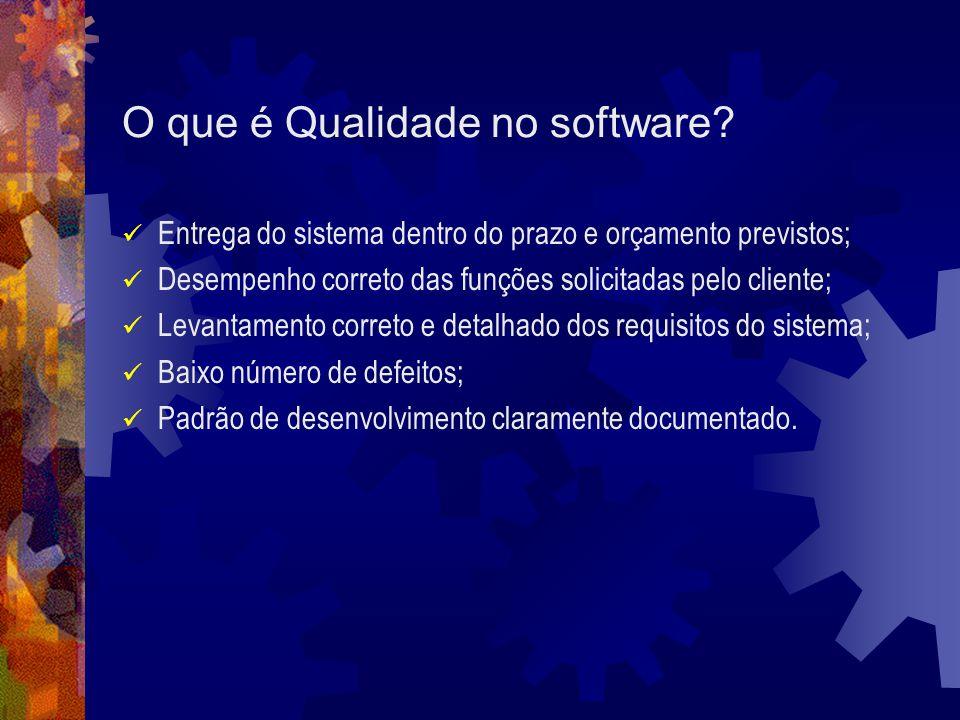 O que é Qualidade no software