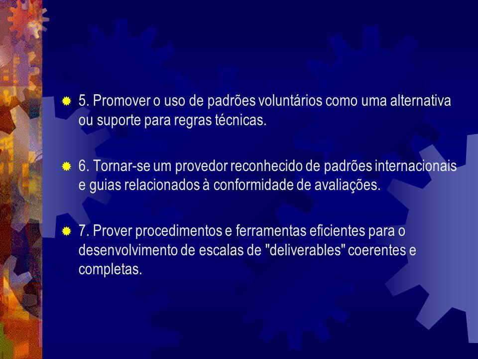 5. Promover o uso de padrões voluntários como uma alternativa ou suporte para regras técnicas.