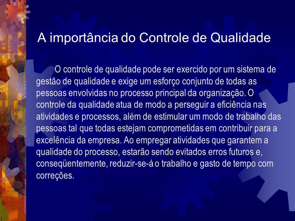 A importância do Controle de Qualidade