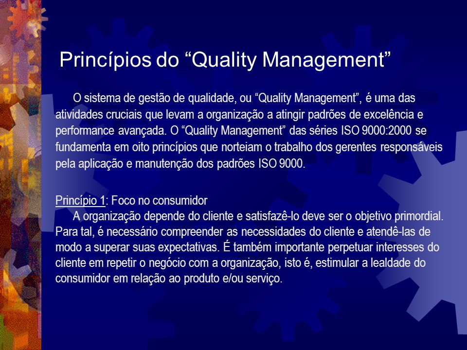 Princípios do Quality Management
