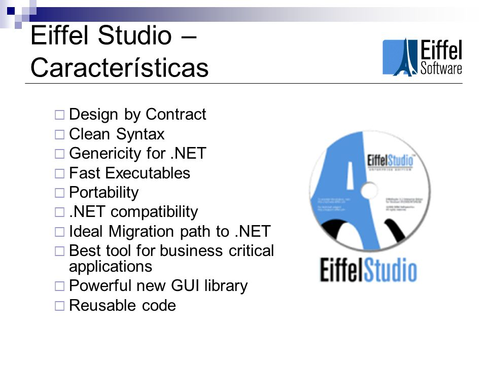 Eiffel Studio – Características