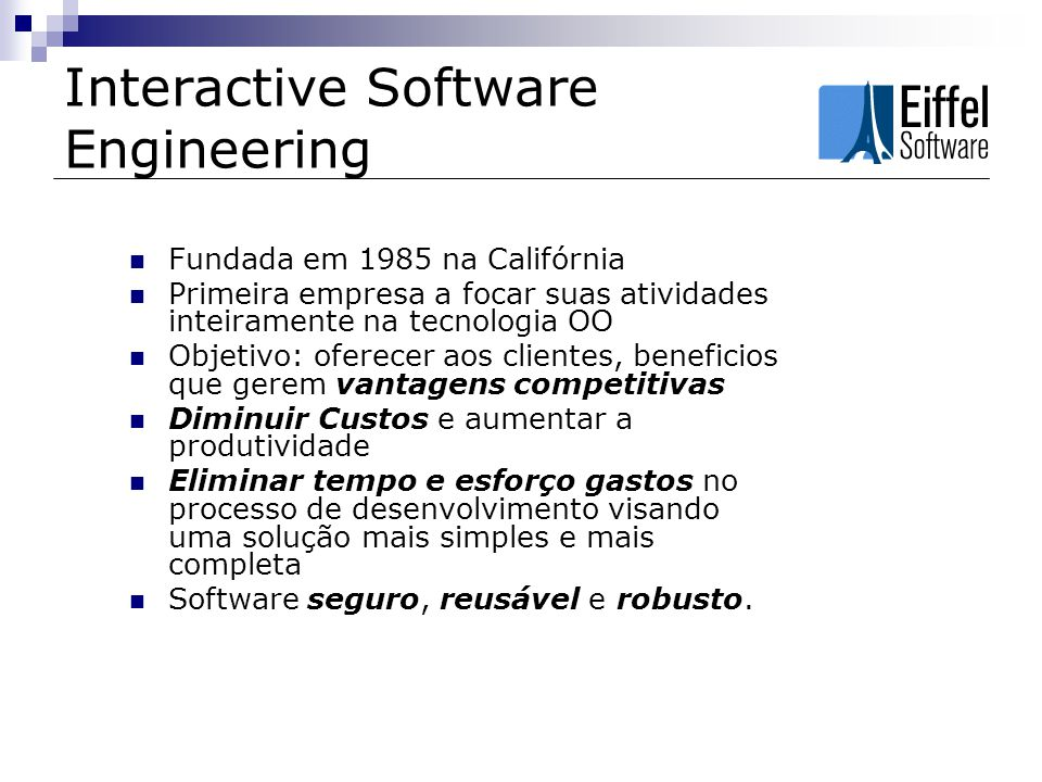 Interactive Software Engineering