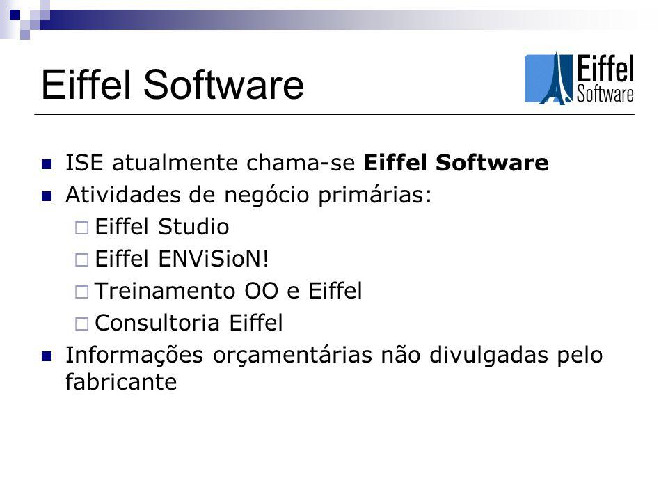 Eiffel Software ISE atualmente chama-se Eiffel Software