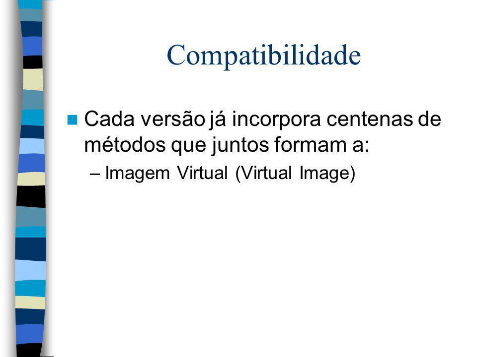 Compatibilidade Cada versão já incorpora centenas de métodos que juntos formam a: Imagem Virtual (Virtual Image)