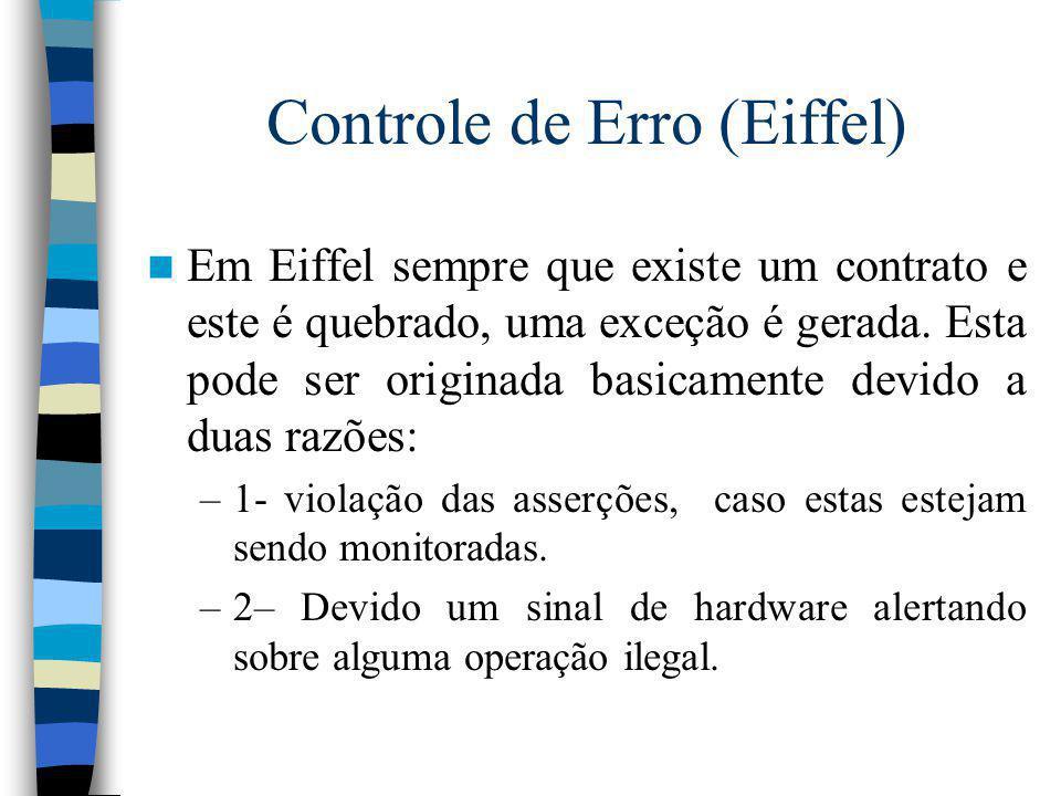 Controle de Erro (Eiffel)