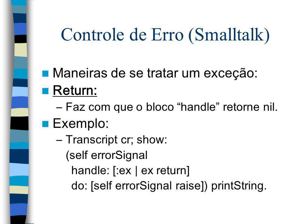 Controle de Erro (Smalltalk)