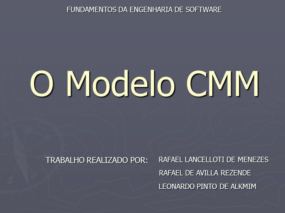 O Modelo CMM TRABALHO REALIZADO POR: