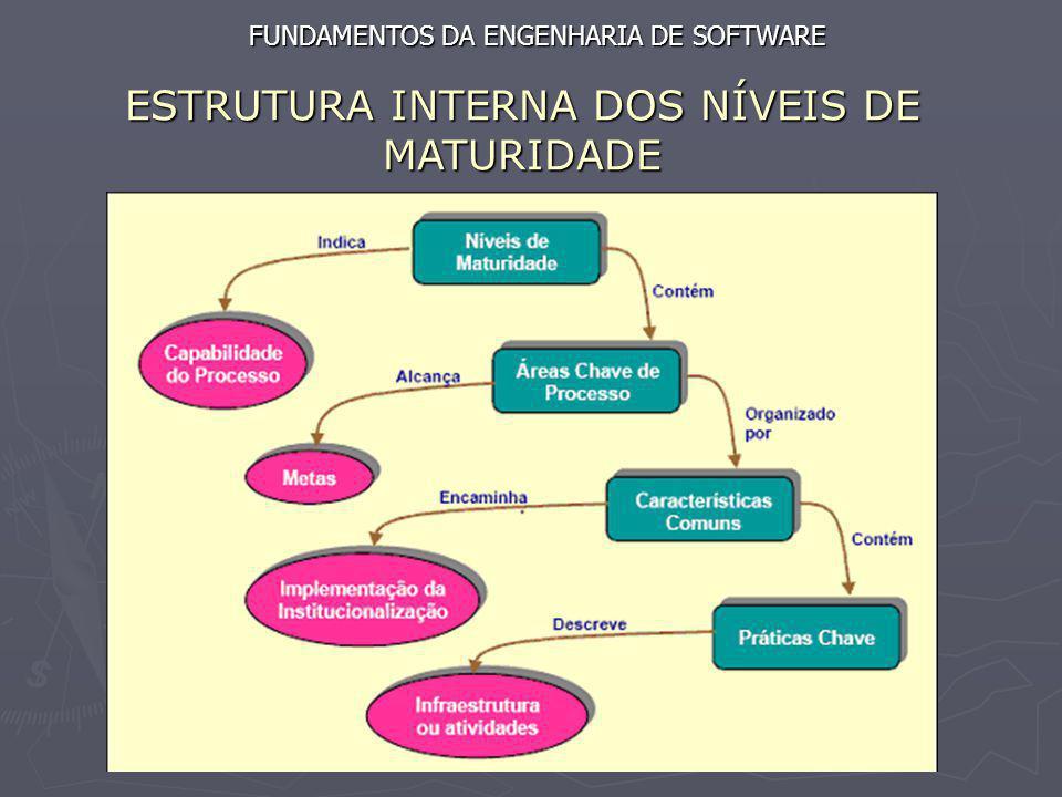 ESTRUTURA INTERNA DOS NÍVEIS DE MATURIDADE