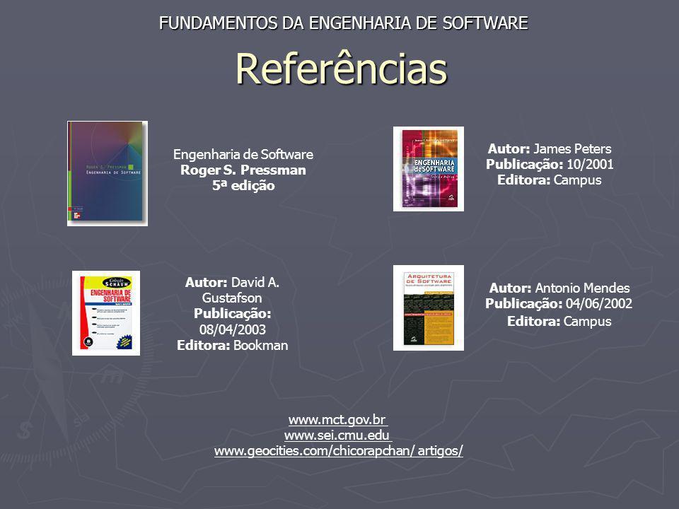 Referências FUNDAMENTOS DA ENGENHARIA DE SOFTWARE