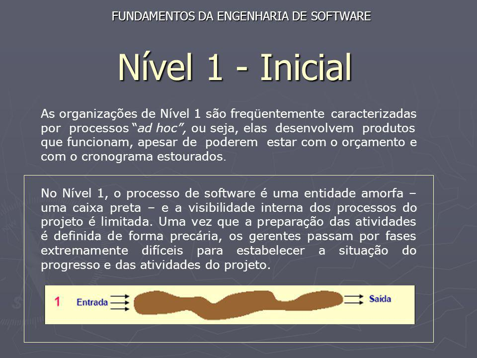 Nível 1 - Inicial FUNDAMENTOS DA ENGENHARIA DE SOFTWARE