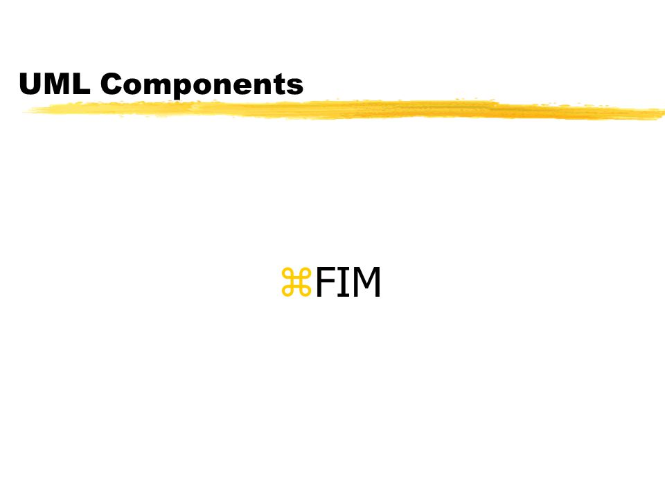 UML Components FIM