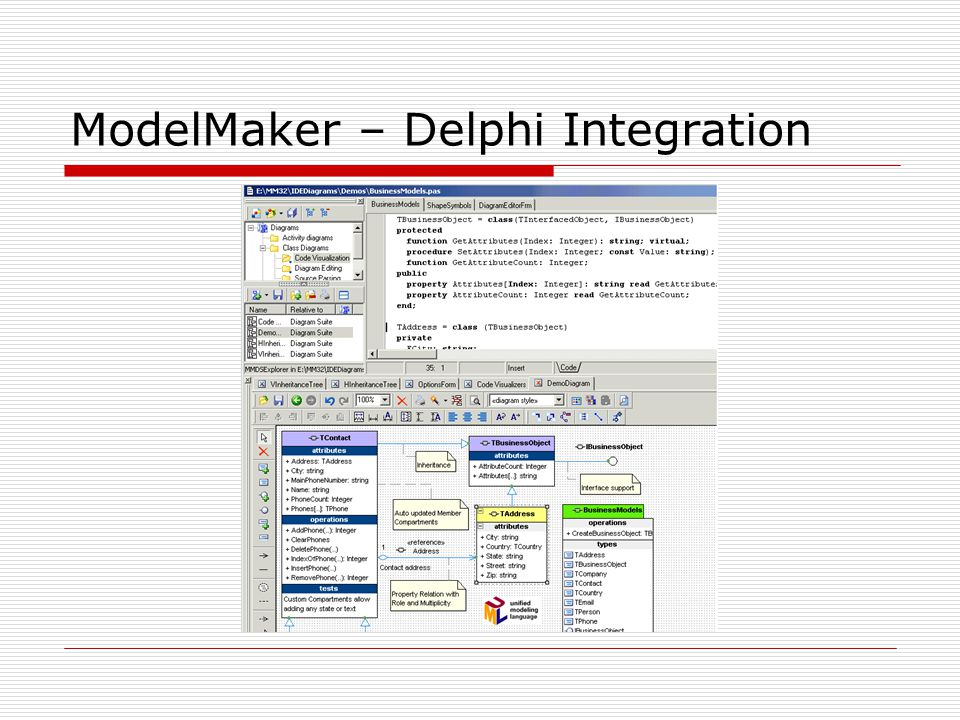 ModelMaker – Delphi Integration