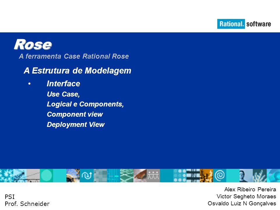 Rose A Estrutura de Modelagem Interface