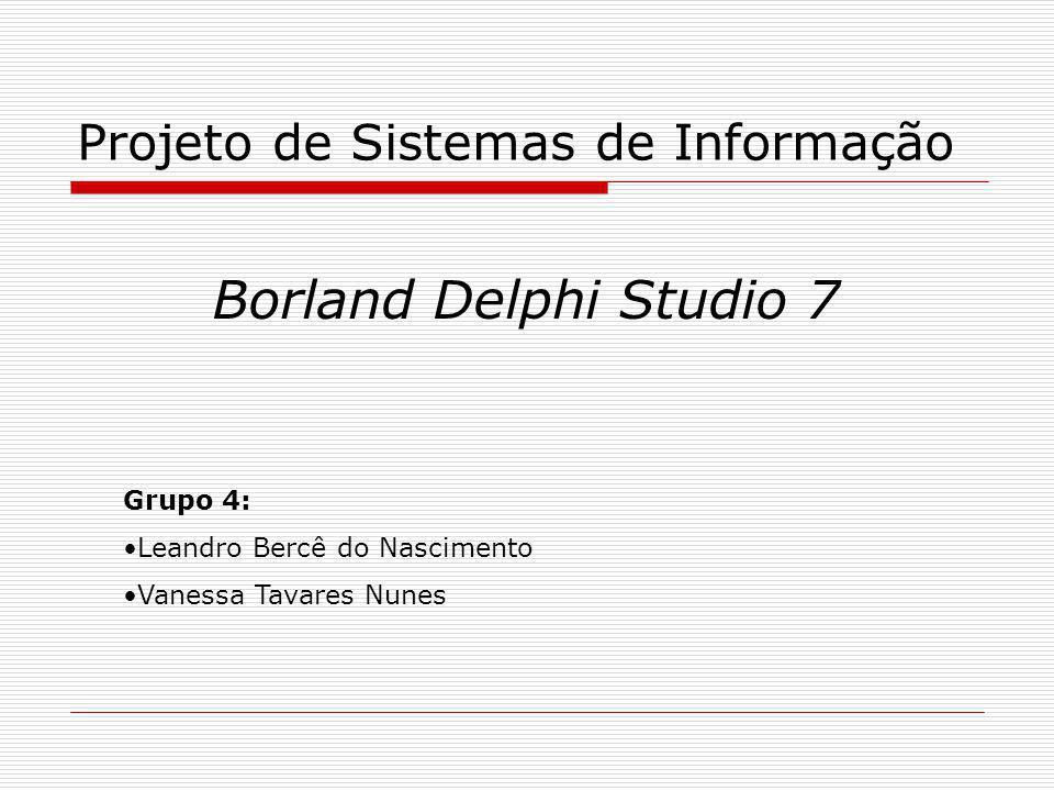 Projeto de Sistemas de Informação
