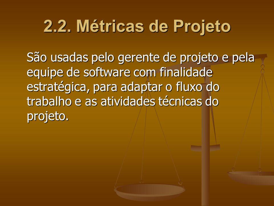 2.2. Métricas de Projeto