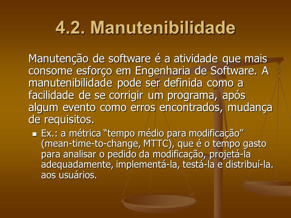 4.2. Manutenibilidade