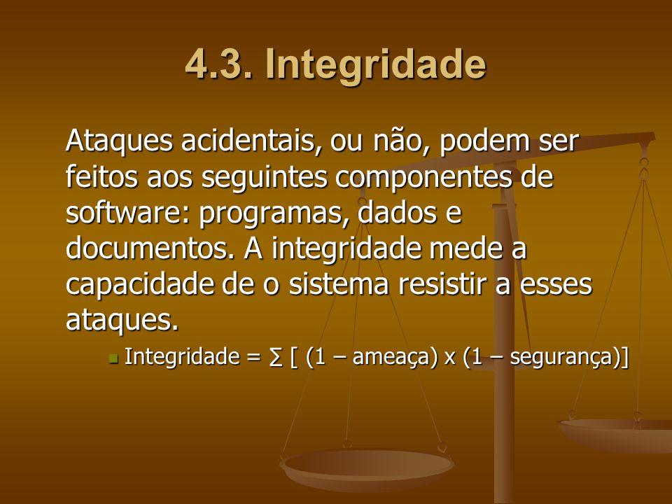 4.3. Integridade